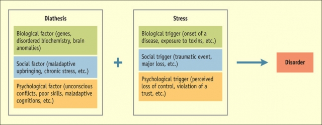 diathesis stress theory of psychological disorder
